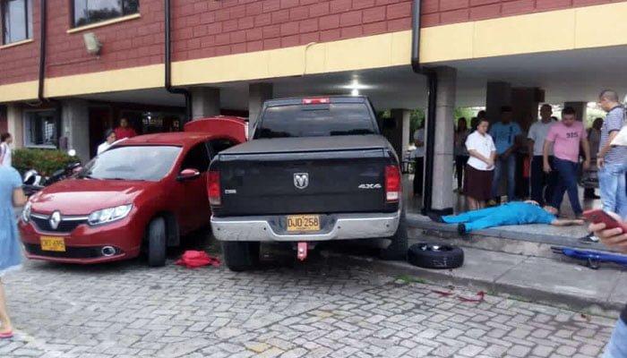 Accidente al interior del colegio La Sagrada Familia en Montería