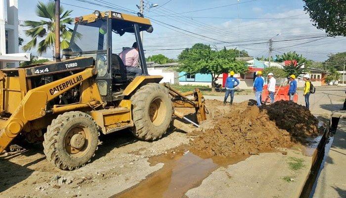 En un 97% avanzan las obras de alcantarillado de barrios del sur de Montería