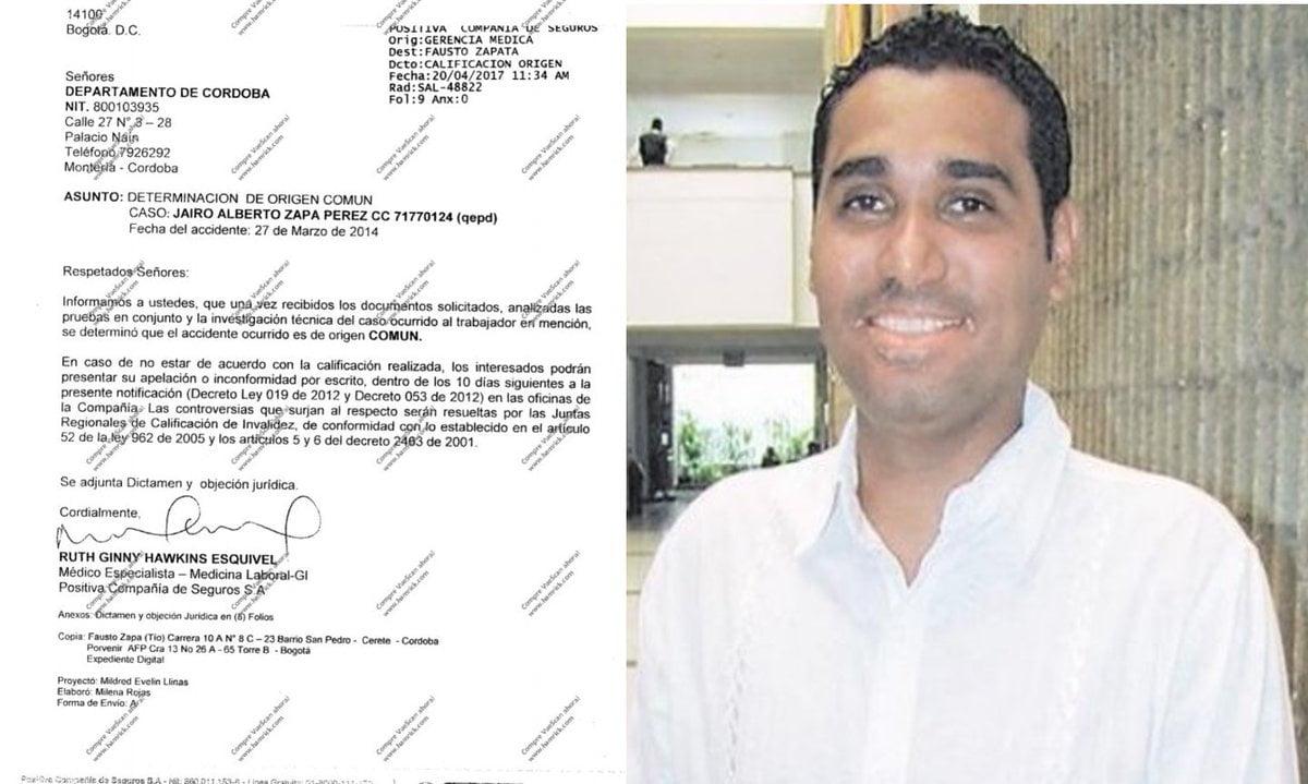 A Jairo Zapa le negaron indemnización de ARL tras afirmar que su muerte fue común