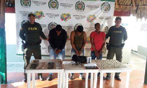 Tres personas fueron capturadas por robo a oficina de Electricaribe en Pueblo Nuevo