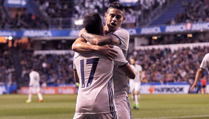 Con dos goles de James, Real Madrid goleó a la Coruña 6-2