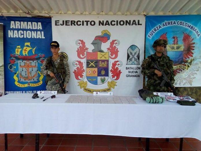 Ejército incautó material perteneciente al ELN