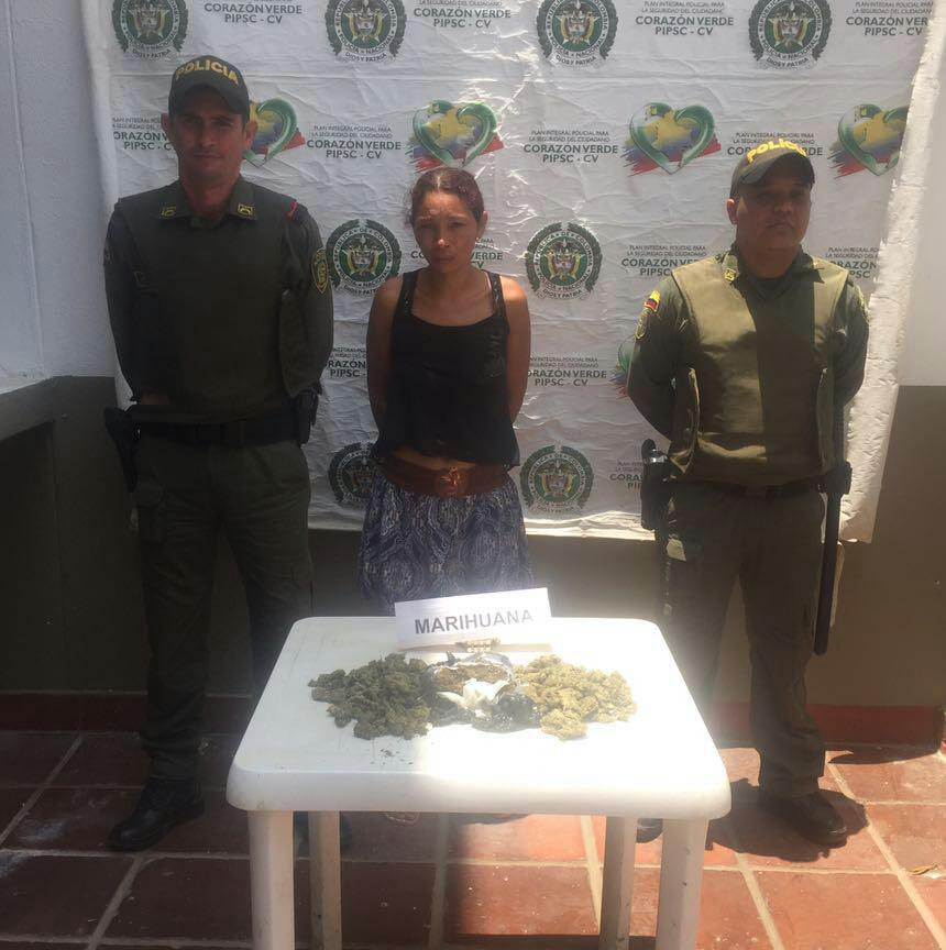 Capturada mujer por trafico de estupefacientes