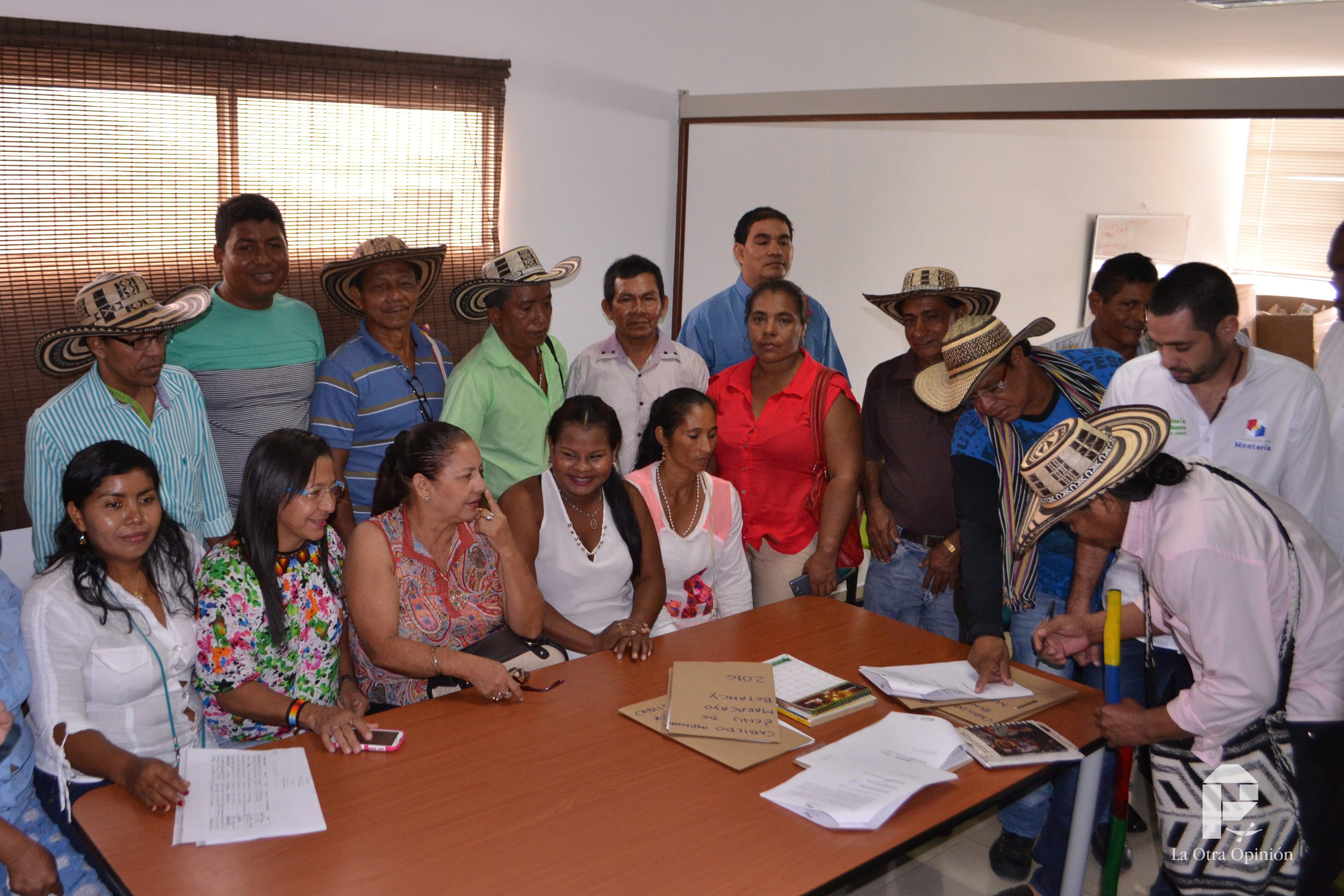 Se posesionan cabildos indígenas en Montería