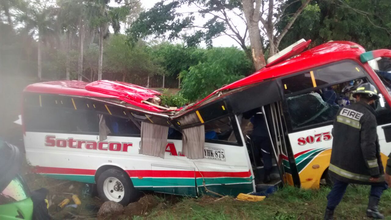 Trágico accidente de bus intermunicipal de Sotracor