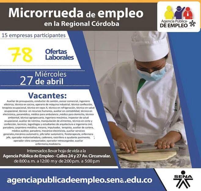 Ofertas laborales en microrueda de empleo en Córdoba.
