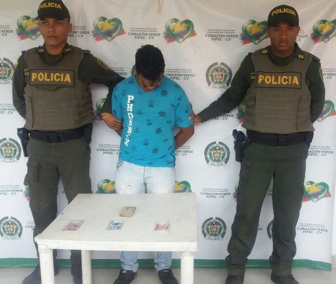 "Policía capturó a ""Arbey"", Puerto Libertador"