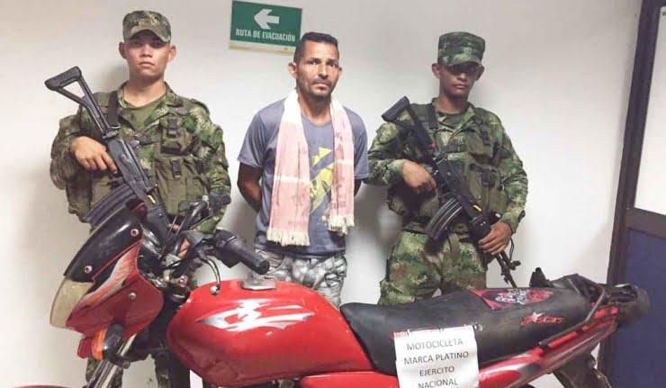 Ejército capturó  presunto extorsionista en Pueblo Nuevo