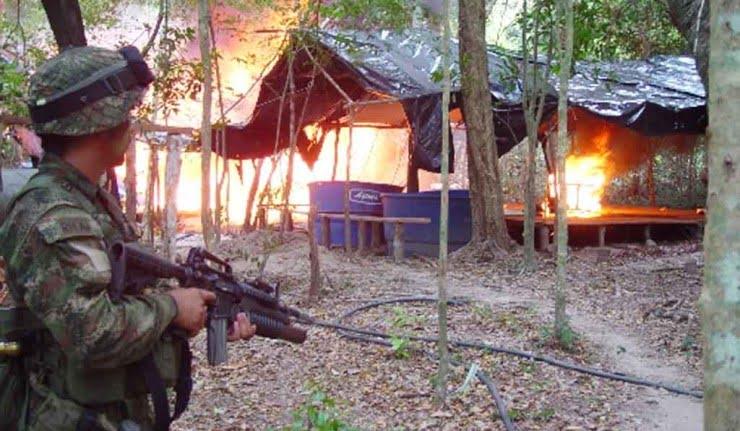 Ejército desmanteló laboratorios de coca