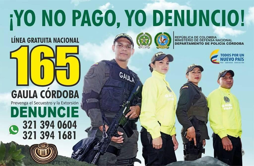 Campaña contra la extorsión en Cotorra