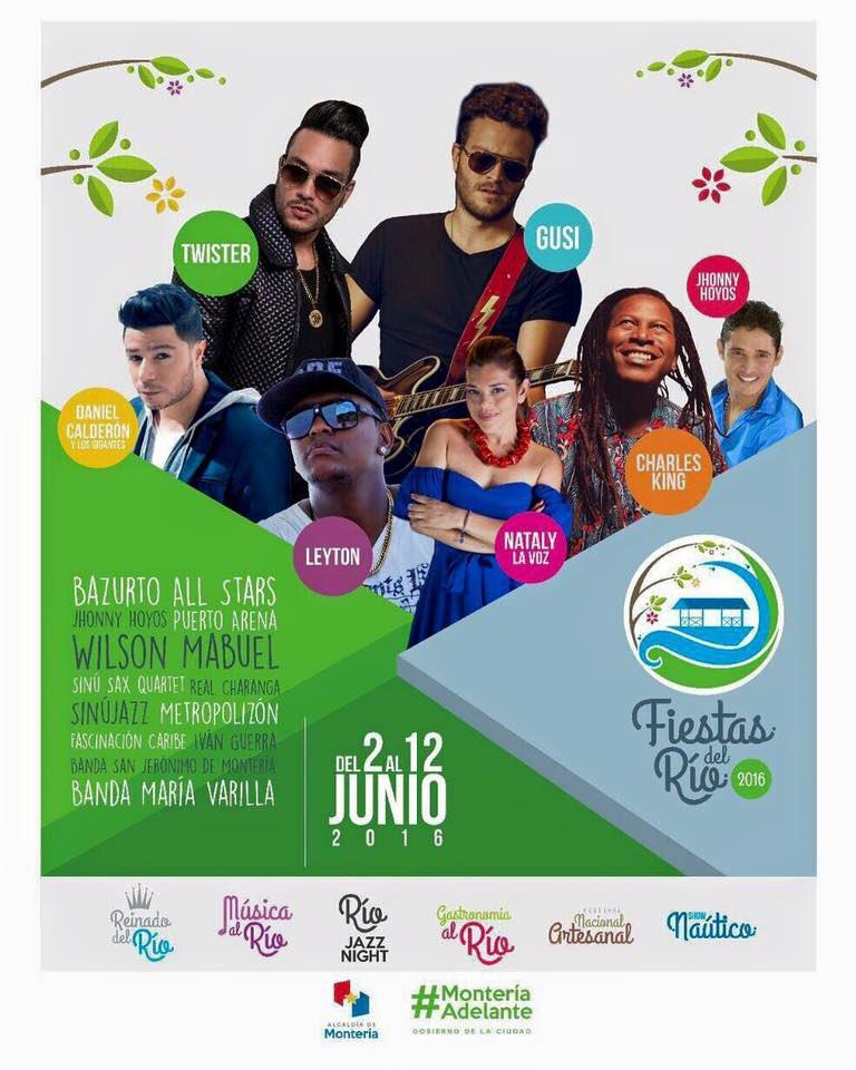 Estos son los artistas que harán parte de Las Fiestas del Río