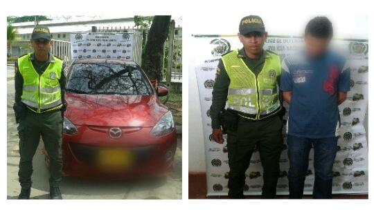 Capturado una persona en el barrio La Floresta con carro robado
