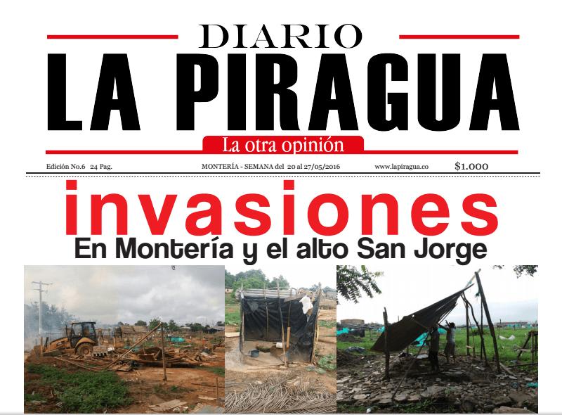 Portada: Sexta Edición de La Piragüa, la otra opinón