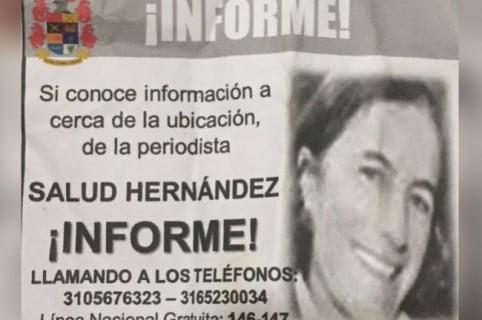Volantes y 100 millones de recompensa por Salud Hernández