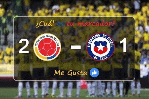 Posibles alineaciones para Colombia Vs. Chile