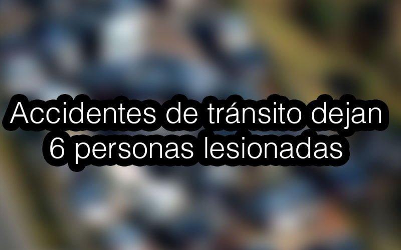 6 personas lesionadas en 13 accidentes de tránsito este fin de semana en Montería