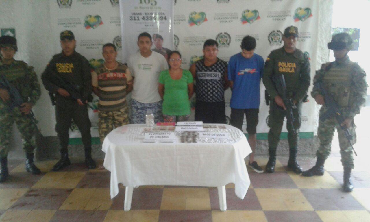 Tropas del ejército capturaron cinco extorsionistas en el Bajo Cauca Antioqueño