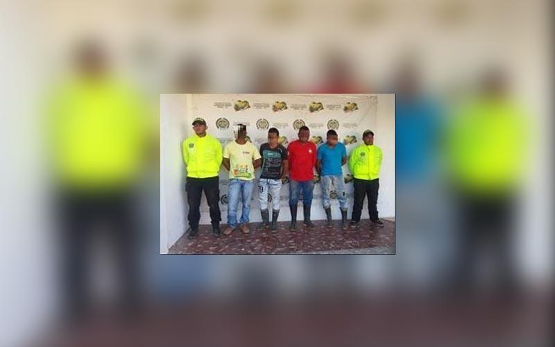 4 personas detenidas en San José de Uré