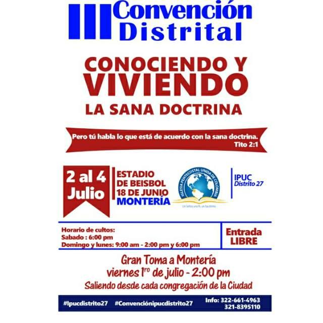 Convención cristiana en el estadio 18 de Junio de Montería