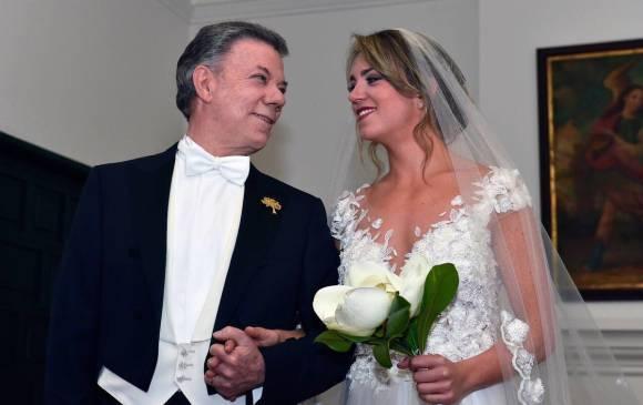 María Antonia Santos, la hija del presidente, se casó en Bogotá