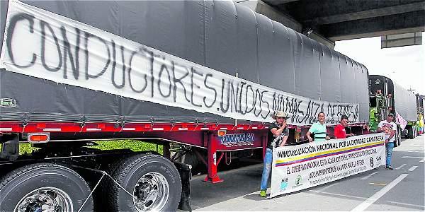 Las Palmas de Medellín, nuevo punto de concentración de camioneros