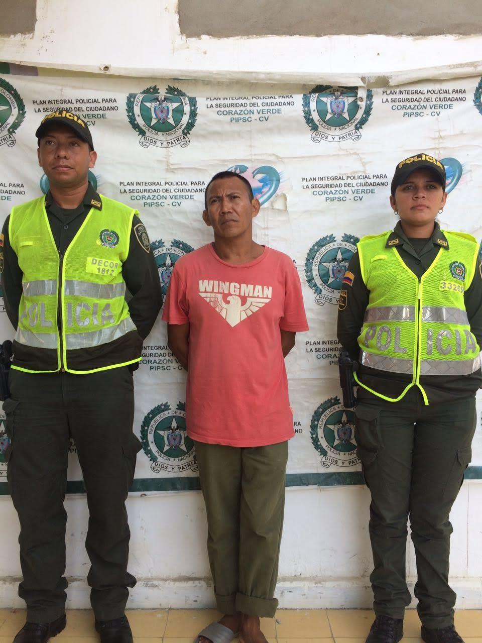 Capturado por la Policía por el delito de acto sexual con menor de 14 años
