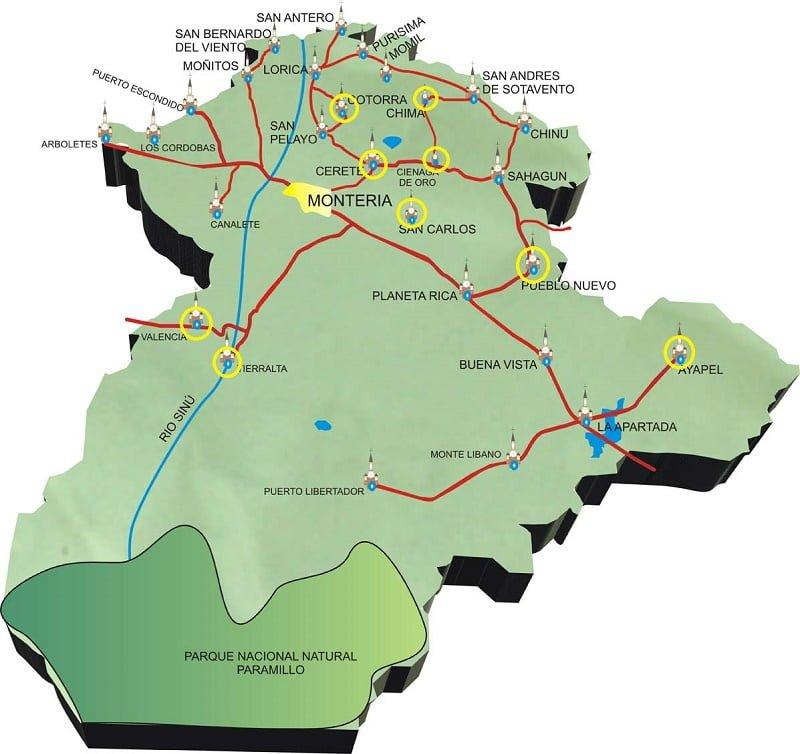 C.V.S., castigó a municipios cordobeses