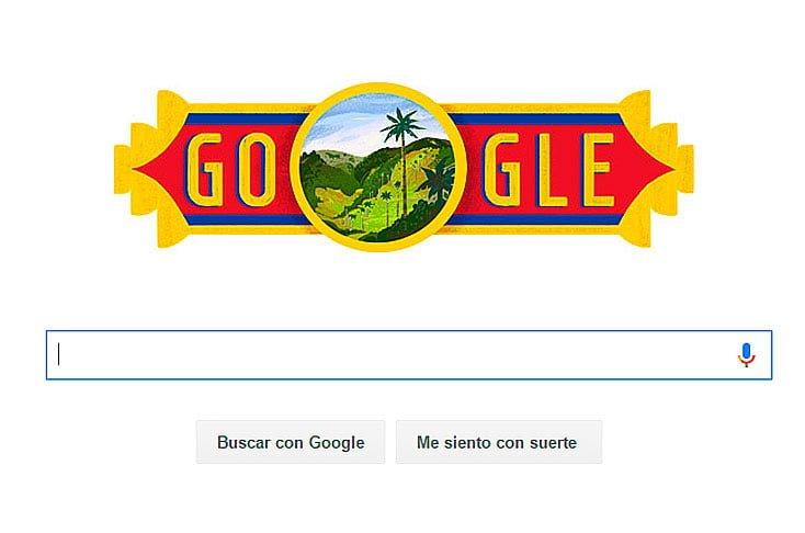 Google cambió su imagen para conmemorar la Independencia de Colombia