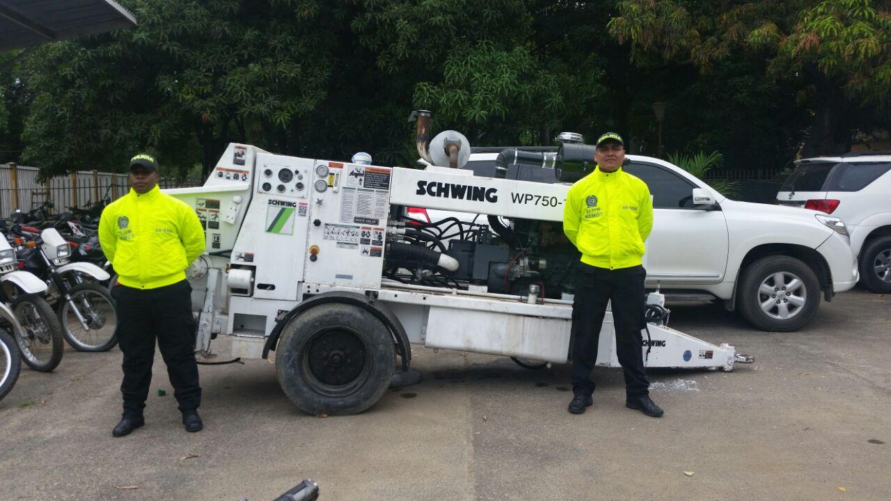 Policía recuperó en Montería máquina bombeadora de concreto, avaluada en $300 millones