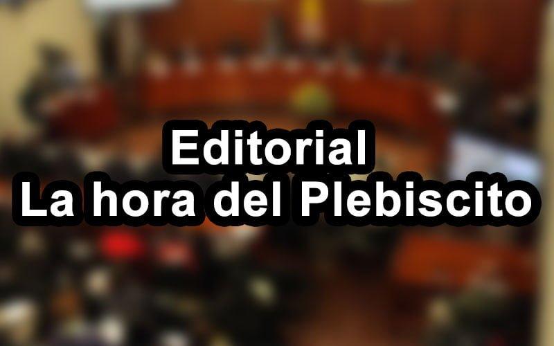 Editorial: La hora del Plebiscito