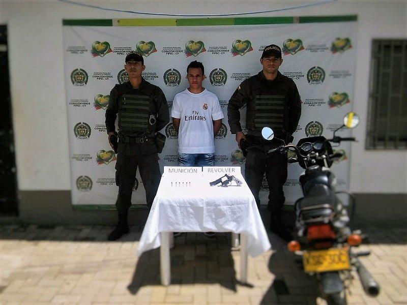 Capturado por porte ilegal de armas en Montelíbano