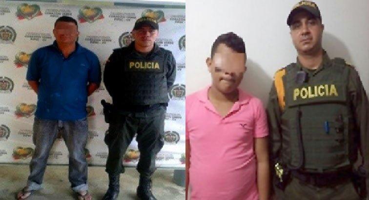 Por drogas y violencia intrafamiliar capturan a 2 personas