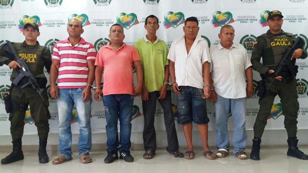"""Por extorsión, detenidos cinco presuntos integrantes del crimen organizado """"Clan del Golfo"""""""