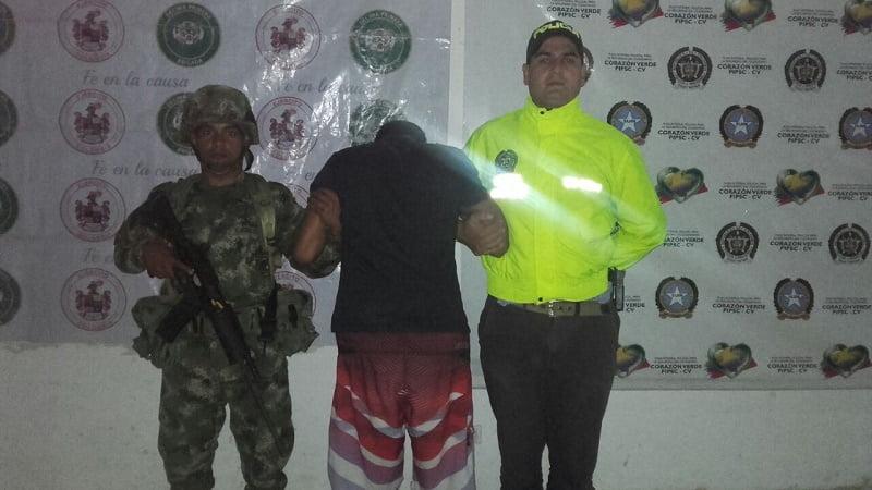Policía lo capturó en una requisa en Montería