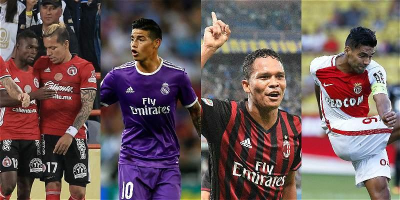 Fin de semana a puro gol: James y Falcao lideran celebraciones