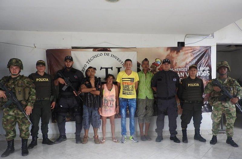 En Cáceres -Antioquia Ejército capturó a cuatro integrantes del Clan del Golfo