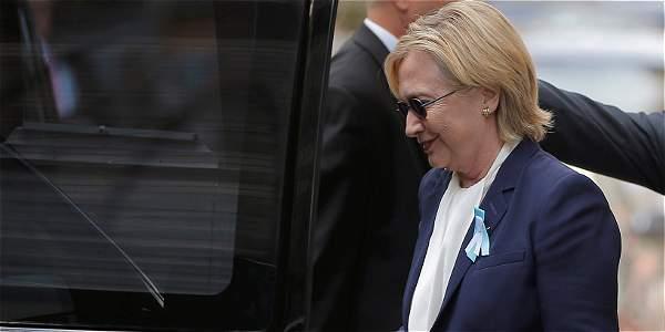 Hillary Clinton es diagnosticada con neumonía