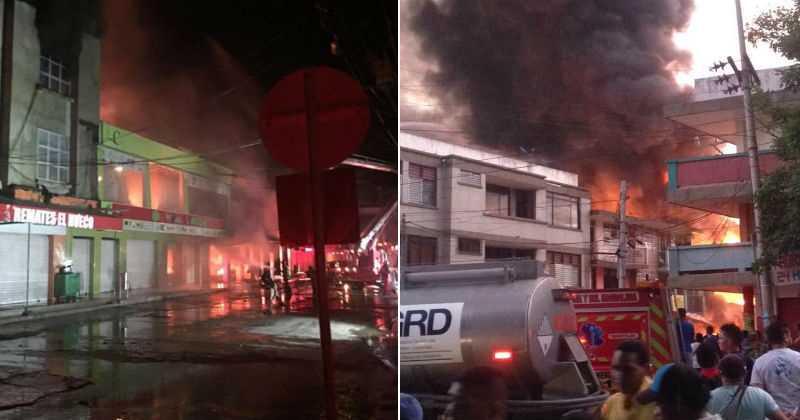 Grave incendio en Mercado Público de Santa Marta