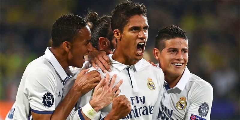 James, 70 minutos en el empate 2-2 de Real Madrid con Dortmund
