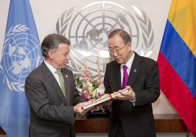 Juan Manuel Santos entrega a la ONU el acuerdo de paz