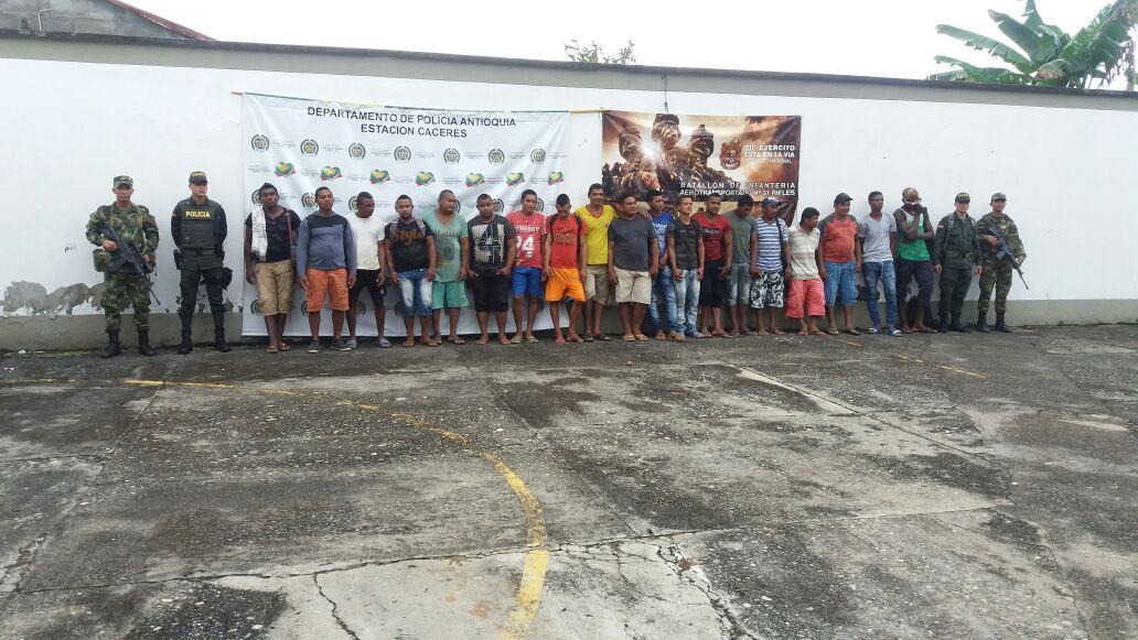 Ejército Nacional propina fuertes golpes a la minería ilegal en Cáceres (Antioquia)