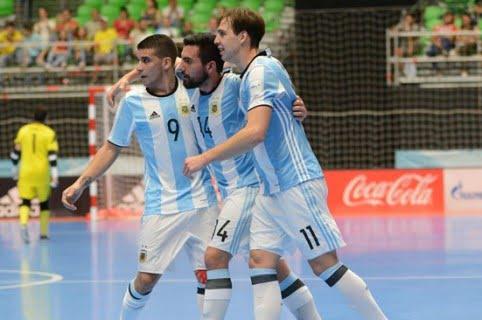 Argentina saca la cara por Suramérica y pasa a semifinales de Mundial de fútsal