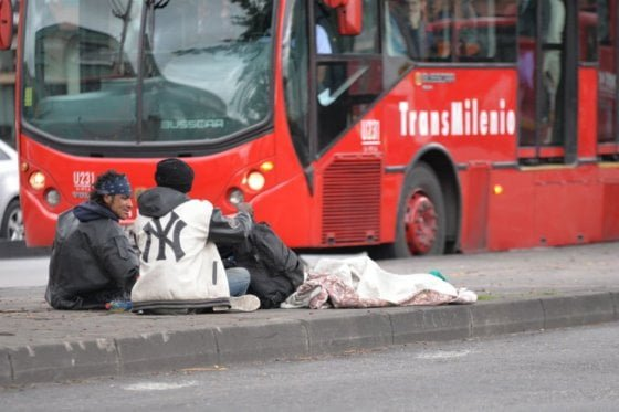 Transmilenio, blanco de ataques por parte de habitantes de calle