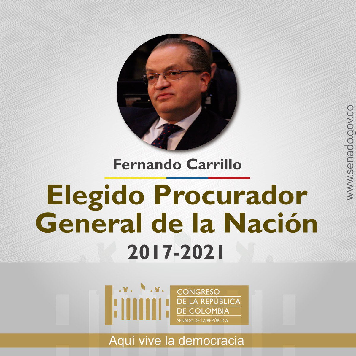 Fernando Carrillo, nuevo procurador general de la Nación