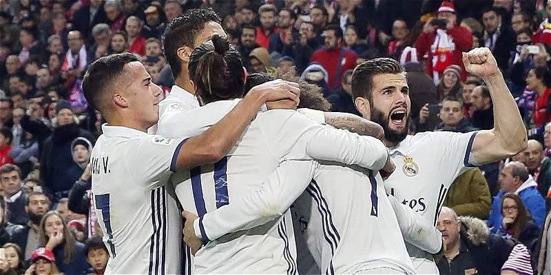 James: 7 minutos en la goleada 0-3 del Real Madrid sobre Atlético