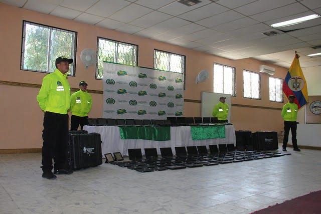 Recuperan 37 portátiles hurtados del colegio Nacional