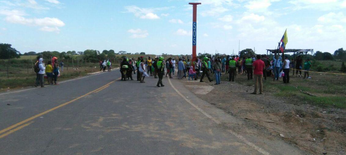 350 familias desalojadas en invasión en Santa Lucia