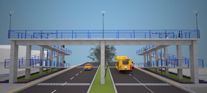 Comenzó construcción del puente peatonal en Montería