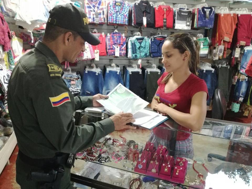 Policía realiza en el departamento campaña contra el hurto a comercios