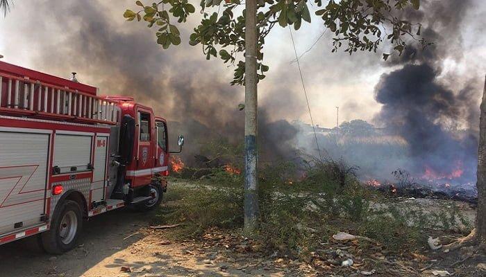 Incendio forestal en La Pradera